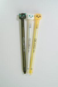 סט 3 עטים מעוצבים - חתול