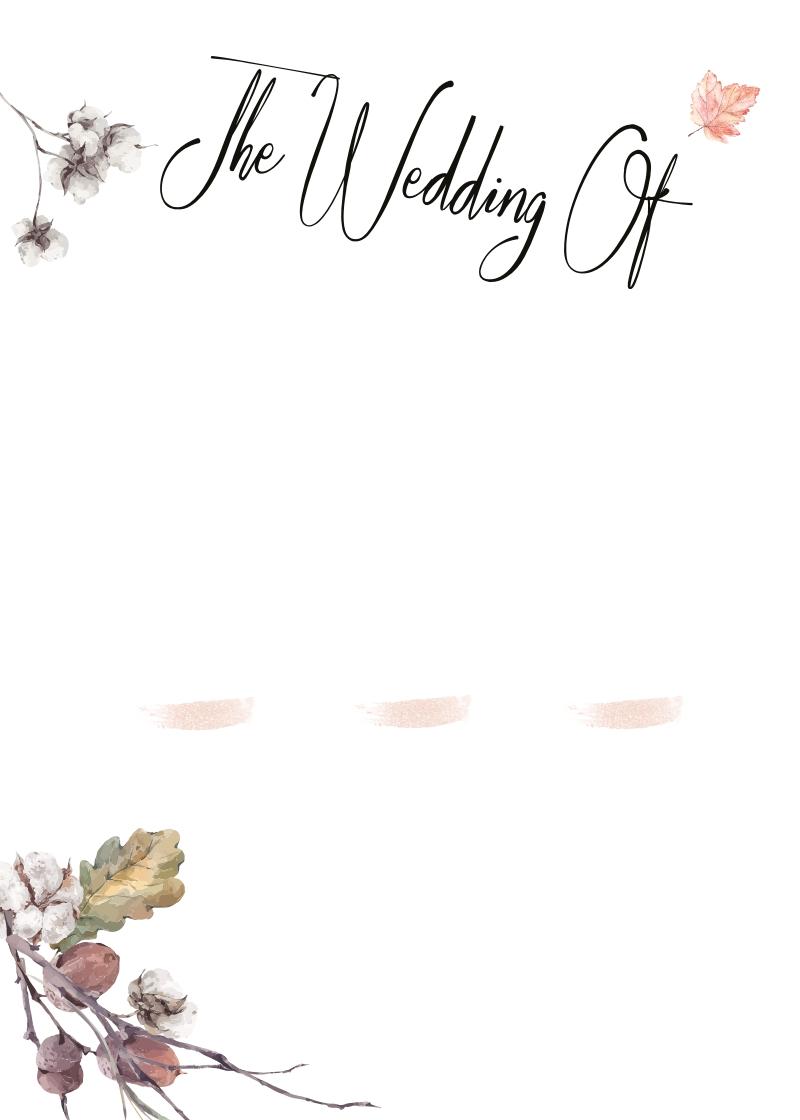 fall wed - 2