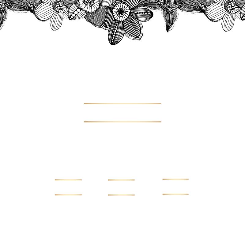 פרחים שחור לבן - 2