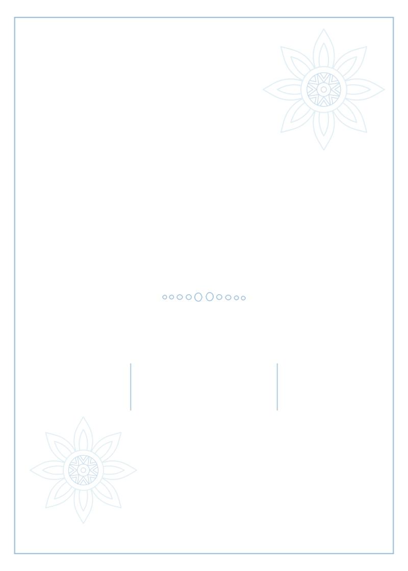אוריינטאלי כחול-לבן - 2