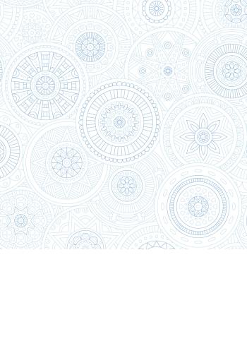 אוריינטאלי כחול-לבן - 1